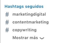 seguir hashtags linkedin